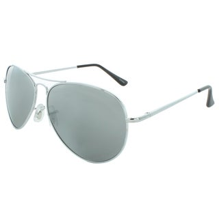 EPIC Eyewear Unisex Metal 55mm Aviator Sunglasses in Silver