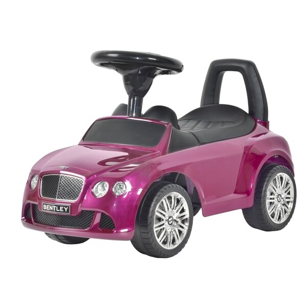 Best Ride on Cars Bentley Push Car Azure Purple