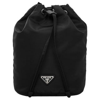 Prada Nylon Vela Black Drawstring-top Cosmetic Pouch