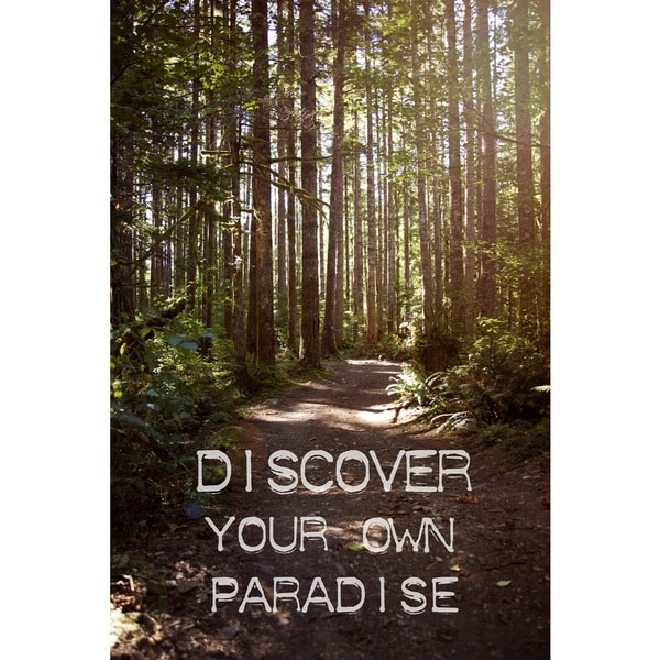 Marmont Hill 'Discover Your Own Paradise' Canvas Art