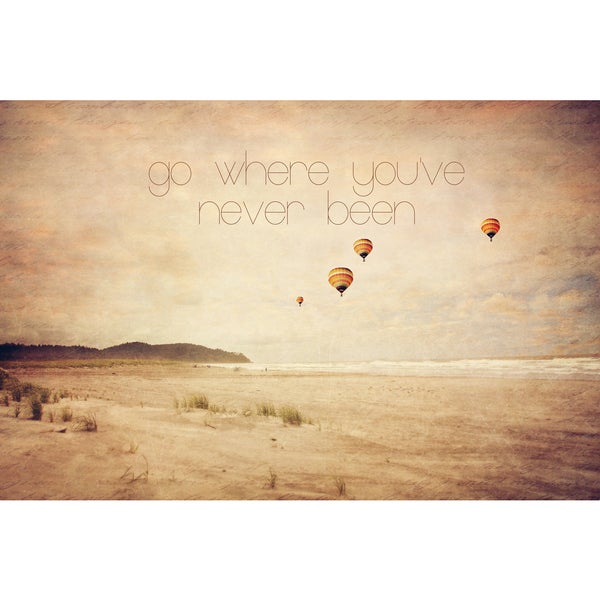 Marmont Hill 'Go Where You've Never Been' Canvas Art