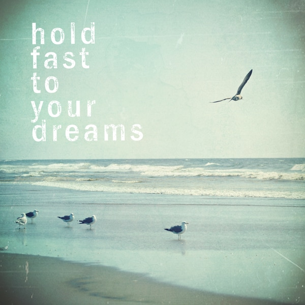 Marmont Hill 'Hold Fast To Your Dreams' Canvas Art
