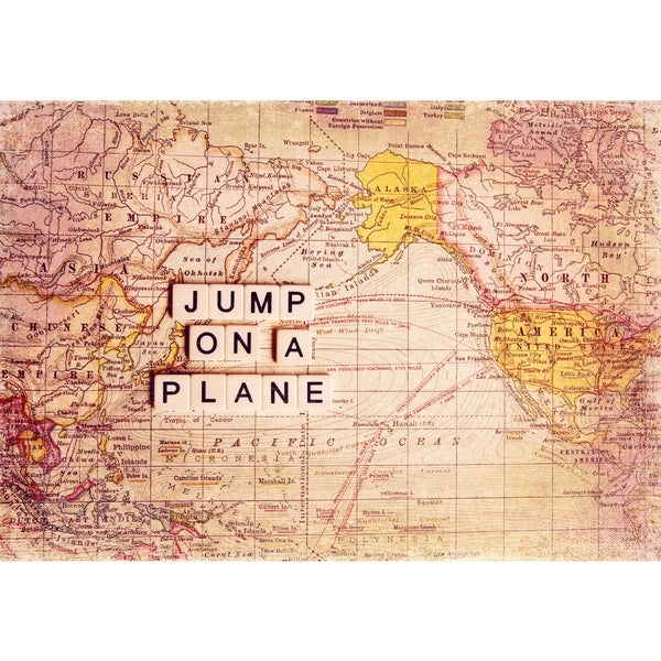 Marmont Hill 'Jump On a Plane' Canvas Art