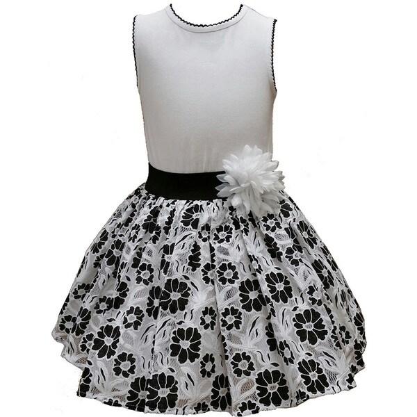 Mia Juliana Little Girls' Drop Waist Lace Dress