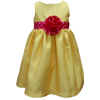 Mia Juliana Baby Girls' Polka Dot Shantung Dress