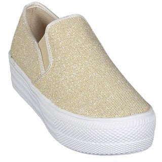 Women's 'Albi-1' Netted Glitter Slip-on Platform Sneakers
