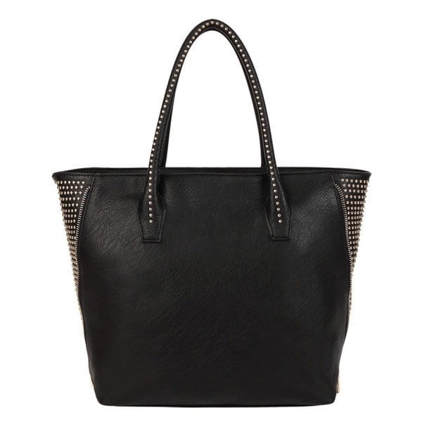 Melie Bianco Adele Studded Faux Leather Tote Bag