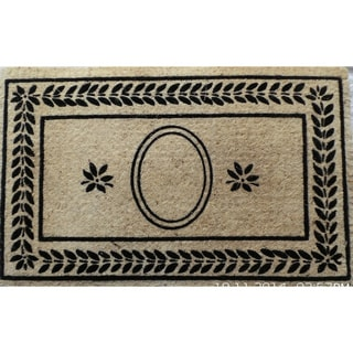 Leaf Border Coco Fibre Entry Mat (22 inches wide x 36 inches long)