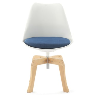 Pure White and Blue Tulip Chair