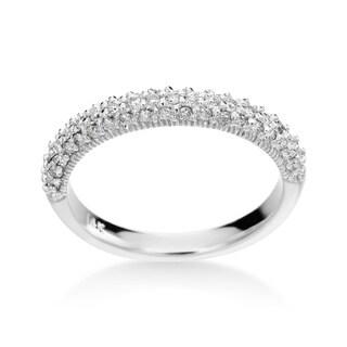 14k White Gold Diamond Band (H-I, SI1-SI2)