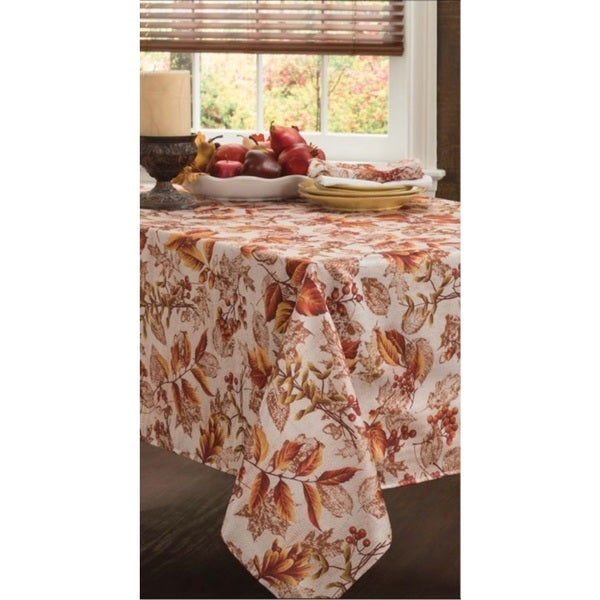 Falling Leaves Textured Tablecloth