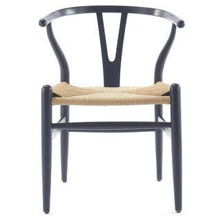 Contour Wishbone Chair In Navy Blue (Set Of Two)