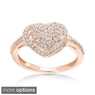 SummerRose 14k Gold 1/3ct TDW Diamond Heart Ring (H-I, SI1-SI2)