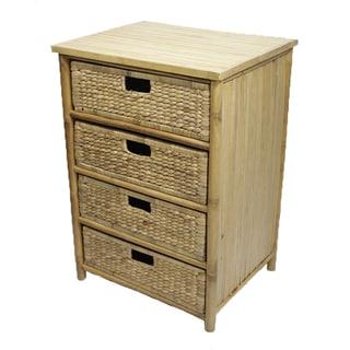 Heather Ann 4-drawer Bamboo Cabinet