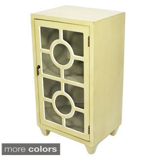 Heather Ann Wooden Glass-door Cabinet