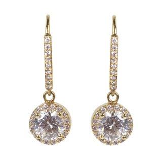 NEXTE Jewelry Cluster Cubic Zirconia Dangle Leverback Earrings
