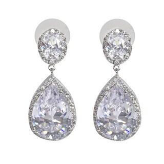 NEXTE Jewelry Pear-cut Cubic Zirconia Large Dangle Earrings