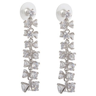 NEXTE Jewelry Triple-set Graduated Cubic Zirconia Strung Tree Dangle Earrings