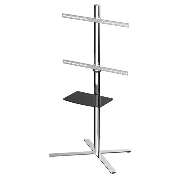 Loctek Steel Height Adjustable Universal 32 to 60-inch Flat Panel TV Cart Mobile TV Stand with Shelf