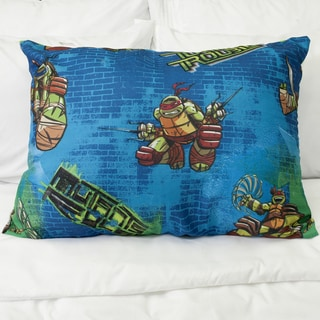 Ninja Turtles Turtle Trouble 2-sided Blue/ Green Down Alternative Hypoallergenic PIllow