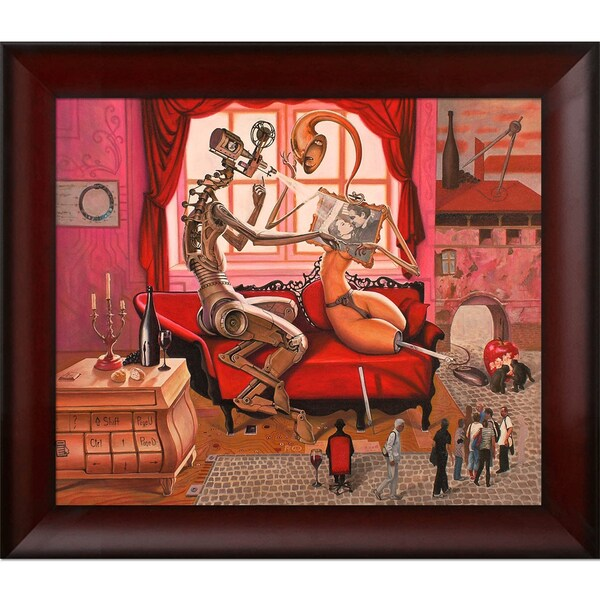 Adrian Borda The Forbidden Spark Framed Fine Art Print