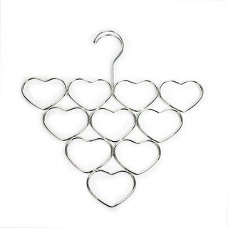 Heart-shaped Chrome Scarf and Accessory Hanger