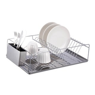 Stainless Steel Dish Drainer 3-piece Set