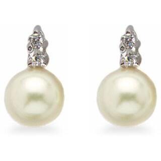 Kabella Sterling Silver Freshwater Pearl Earrings (7 -7.5 mm)