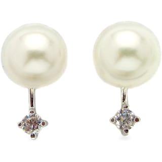 Kabella Sterling Silver Freshwater Pearl Earrings (8-8.5 mm)