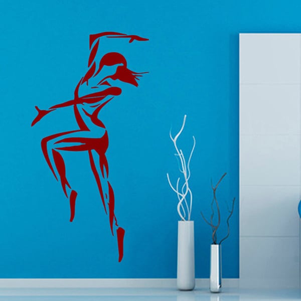 Fitness Yoga Crossfit GYM Decor Sticker Vinyl Wall Art Red