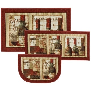 Mohawk Home New Wave French Cellar Printed Rug Set (Contains 1'7x2'5 Slice, 1'7x3'8 and 2'5x4')