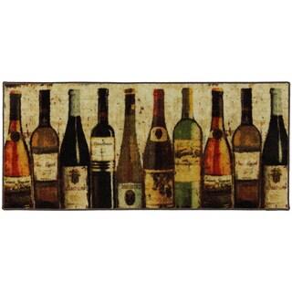 Mohawk Home New Wave Wine Row Printed Rug (1'8x3'9)