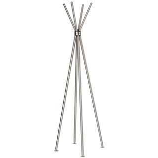 Cortesi Home Deacon Contemporary Stainless Steel Coat Rack