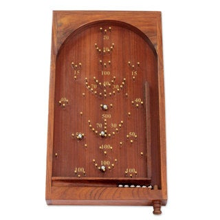 Handcrafted Seesham Wood 'Thrill of the Game' Bagatelle (India)