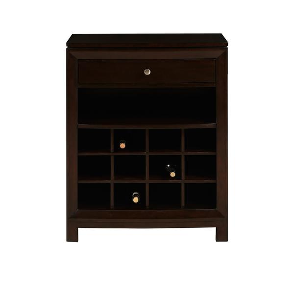 Chocolate Cherry Finish Accent Wine Cabinet