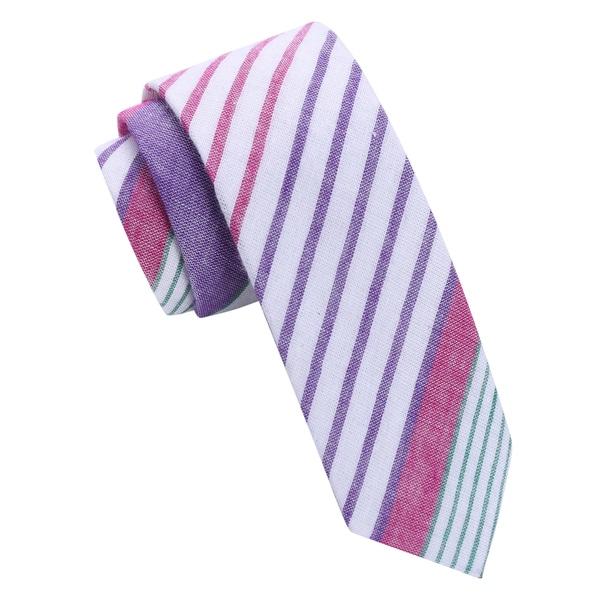 Skinny Tie Madness Purple Striped Skinny Tie