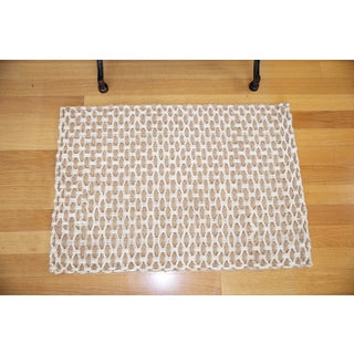 Weft Diamond Bleach/ Natural Jute Rug (2' x 3')