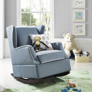 Baby Relax Hudson Baltic Blue Wingback Rocker