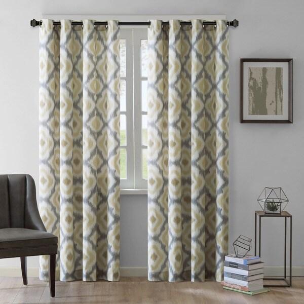 Ink+Ivy Ankara Cotton Printed Curtain Panel