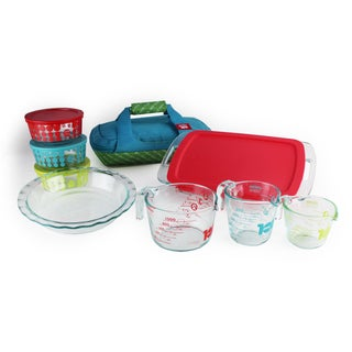 Pyrex 100 Year Limited Edition 14-piece Ultimate Glass Prep, Bake and Store Set