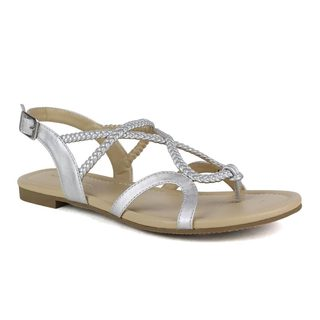 Mark and Maddux Women's Bishop-01 Looped/ Braided Sandal