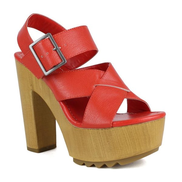 Mark and Maddux Women's Benjamin-08 Chunky Heel Lug High Heel Sandal