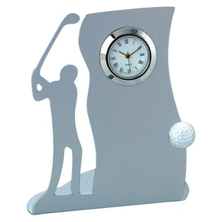 Visol Drive Golf-themed Metal Desk Clock