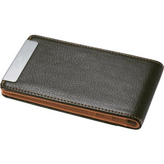 Visol Arman Brown/ Orange Leather Credit Card Holder
