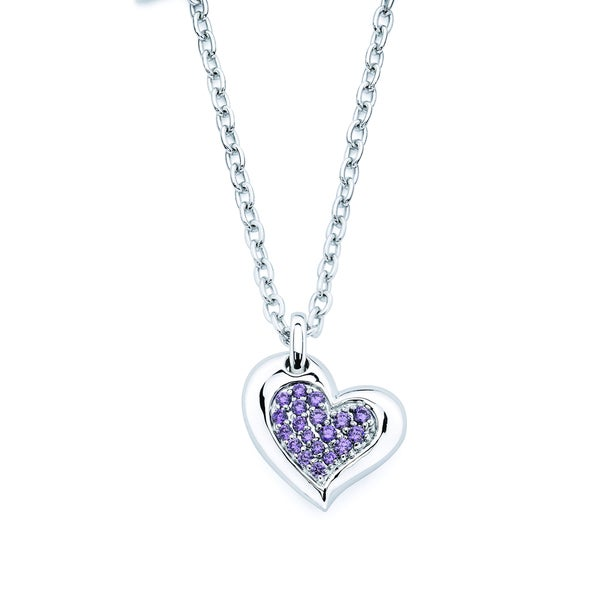 Lotopia Love Heart Pendant featuring Purple Zirconia
