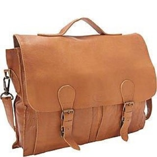 Sharo Light Brown Soft Distressed Leather 16-inch Laptop Messenger Bag