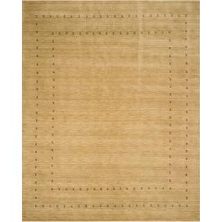 LL4BG Beige Handmade Wool Lori Baft Rug (5' x 8')