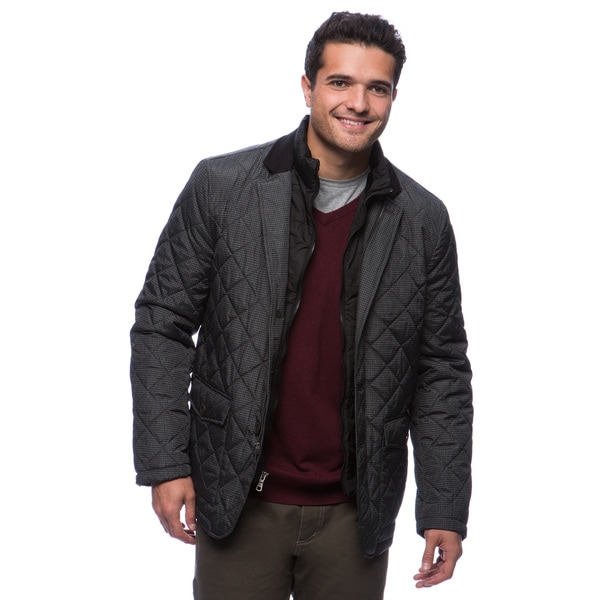 Tommy Hilfiger Men's Quilted Fancy Blazer with Zip-out Puffer Bib