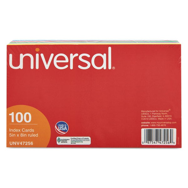 Universal Assorted Index Cards (7 Packs of 100)
