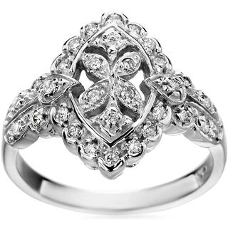 SummerRose 14k White Gold Vintage 1/3ct. TDW Diamond Ring (H-I, SI1-SI2)